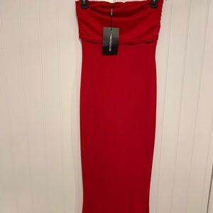 red bodycon prom dress